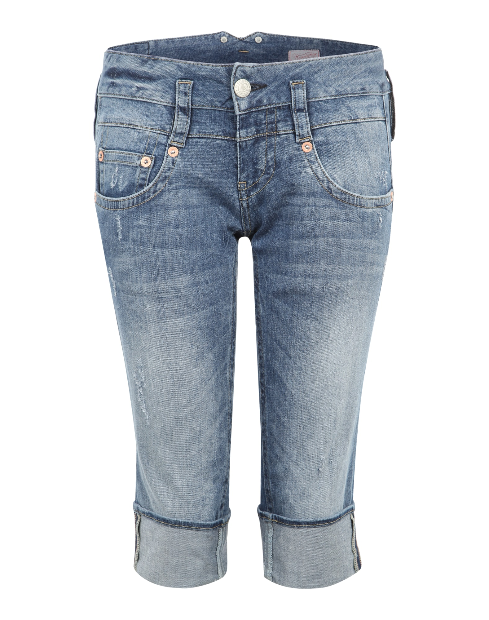 3/4-Jeans im Used-Look ´Pitch´