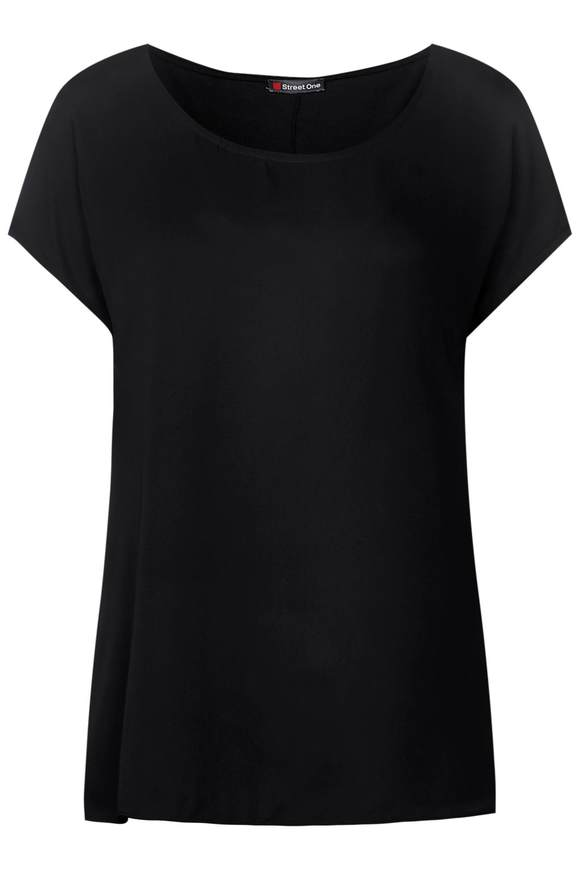 2in1 Chiffon Shirt - Black