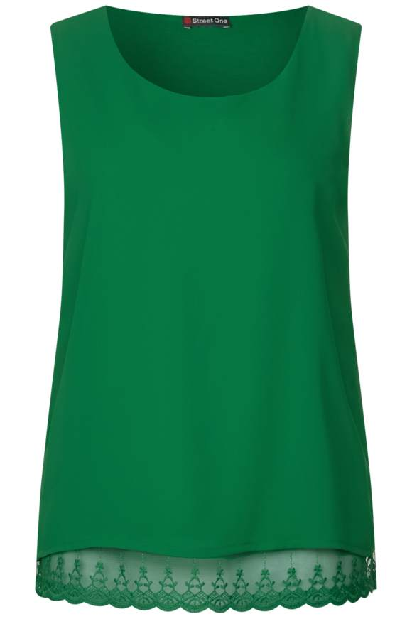 2in1 Chiffon Shirt - pure green