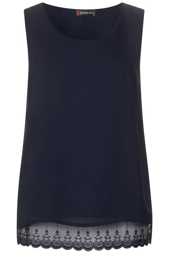 2in1 Chiffon Shirt - deep blue
