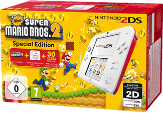 2DS - Rot & Weiß, inkl. New Super Mario Bros. 2